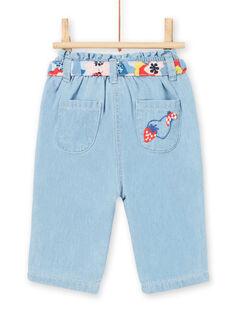 Baby Mädchen Jeans mit Gürtel LICANPAN / 21SG09M1PANP272
