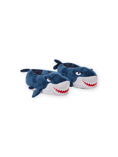 Blaue Hausschuhe 3D Hai Kind Junge MOPANTREQ3D / 21XK3631PTD715
