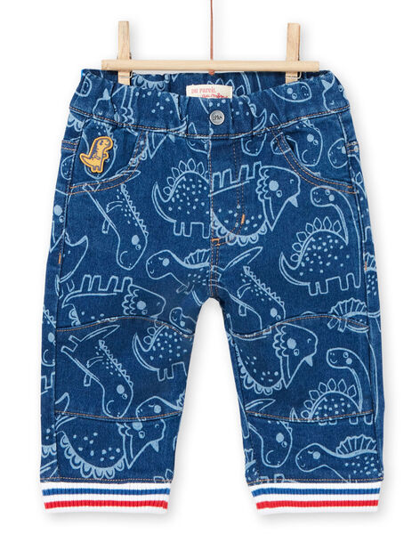 Blaue Dinosaurier Druck Baby Junge Hose LUCANPAN2 / 21SG10M2PANP272