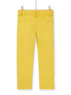 Chino gelb Baumwolle Junge Kind LOJOPACHI1 / 21S90231PAN102