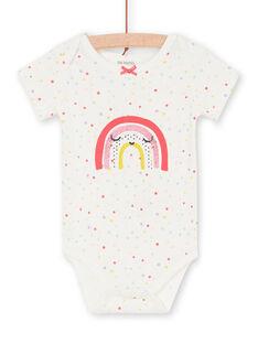 Aus weißem Baby Mädchen Bodysuit LEFIBODARC / 21SH13G5BDL001