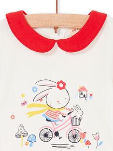 Baby Mädchen ecrufarben und rot Strampelanzug LIHABOD1 / 21SG09X2BOD001