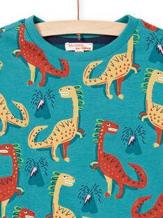 Baby Junge blau reversible Langarm-T-Shirt MOTUTEE3 / 21W902K1TMLC239
