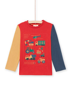 T-Shirt für Jungen in Rot und Orange MOCOTEE4 / 21W902L3TMLF521