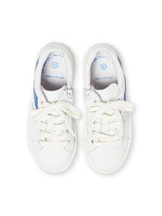 Weiß und blau Turnschuhe Junge Kind LGBASLUCAS / 21KK3634D3F000