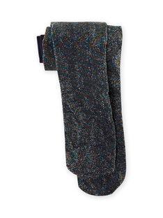 Rippenstrumpfhose für Mädchen mit Lurex-Detail MYAJOSCOL5 / 21WI011BCOLC205
