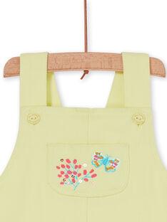 Baby Mädchen gelb Latzhose Kleid LIVERROB2 / 21SG09Q3ROB108