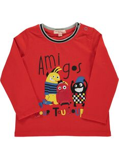 Baby boys' long-sleeved T-shirt DUROUTEE3 / 18WG1023TMLF512