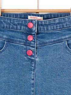 Kurzer Rock aus blauem und rosa Denim LANAUJUP1 / 21S901P1JUPP274