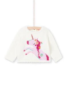 Baby Mädchen rosa und ecru Pullover MITUPUL / 21WG09K1PUL001