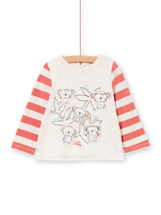 Baby Boy gestreiftes Langarm-T-Shirt LUPOETEE2 / 21SG10Y2TMLA011