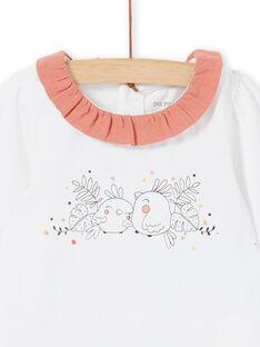 Weißer und rosa Körper für Mädchen LOU1BOD4 / 21SF03H2BOD000