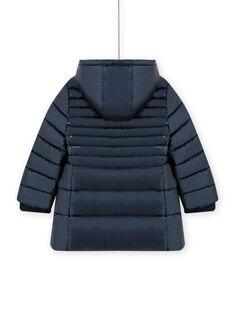 Metallicblaue Daunenjacke für Kind Mädchen MALONDOUN2 / 21W90162D3E070