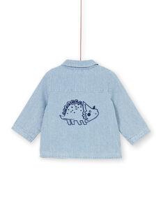 Baby Junge blau gestreifte Jeansjacke LUGROVEST / 21SG10R1VESP272