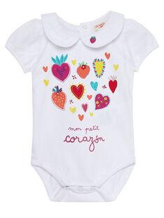 Weißer Baby-Body für Mädchen JIMARBOD / 20SG09P1BOD000