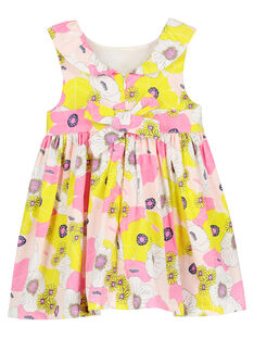 Babykleid aus Baumwollsatin für Mädchen FIPOROB2 / 19SG09C2ROB099