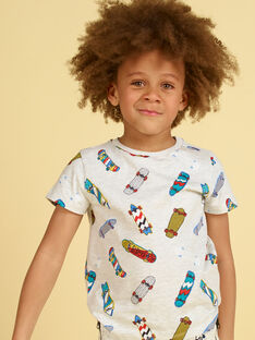Heather grau und blau T-Shirt - Kind Junge LOPOETI1 / 21S902Y2TMCJ920