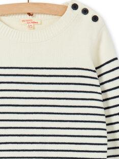Aus weiß gestreiften Pullover für Jungen LOJOPUL1 / 21S90231PUL001