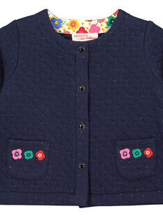 Gesteppte Baby-Weste mit Pailletten für Mädchen FICOCAR1 / 19SG0981CARC205