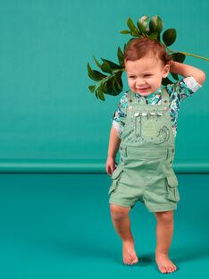 Grüner Latzhose Baby Junge LUVERSAC / 21SG10Q1SACG600