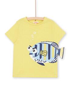 Gelbes T-Shirt mit 3D-Animation - Kind Junge LONAUTI2 / 21S902P3TMCB102