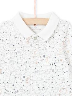 Weißes und khakifarbenes Hemd- und Hosenset für einen Jungen MOU1ENS4 / 21WF0441ENS001