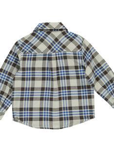Baby boys' checked shirt DUCHOCHEM / 18WG10F1CHM099
