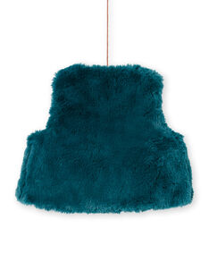 Baby Mädchen ärmellos Ente blau faux Pelz Weste MITUCAR2 / 21WG09K2CAR714