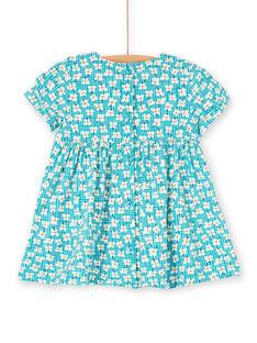 Baby Mädchen türkisfarbenes Kleid LIVERROB3 / 21SG09Q4ROBC216