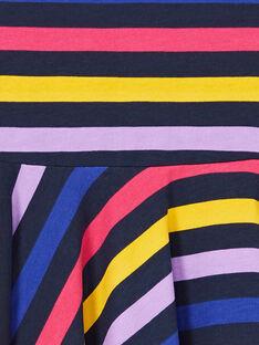 Schwarz und blau gestreiftes Kleid LANAUROB2 / 21S901P1ROBC205