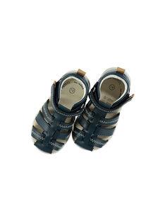 Marineblaue Sandalen FBGSANDFLEX / 19SK38C1D0E070
