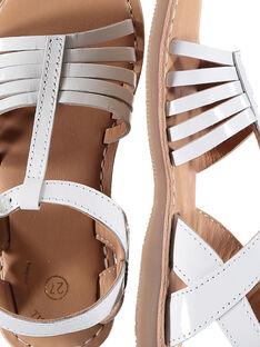 Sandalen aus Lackleder für draußen Mädchen FFSANDOLI3 / 19SK35C8D0E000