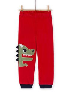 Pyjama-Set für Jungen mit T-Shirt und Hose mit Drachen-Print MEGOPYJDRA / 21WH1287PYJF504