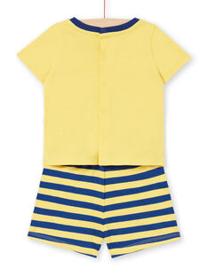 Baby Junge gelber Schlafanzug LEGAPYJTIG / 21SH14C1PYJB116