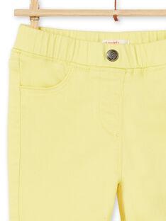 Gelbe Jeggings in gefärbtem Kleidungsstück LAJOJEG4 / 21S90141D2B116