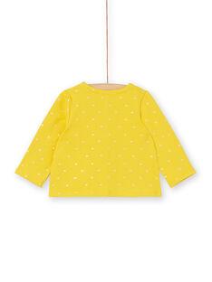 Gelb-goldene Herzdruck-Weste für Mädchen LIJOCAR2 / 21SG0943CAR106