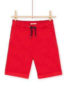 Rote Bermudashorts Kind Junge LOJOBERMU3 / 21S902F3BER050