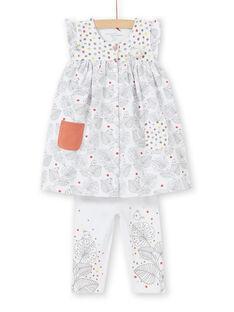 Kurzärmeliges Kleid und Leggingset für die Geburt eines Mädchens LOU1ENS1 / 21SF03H2ENS000