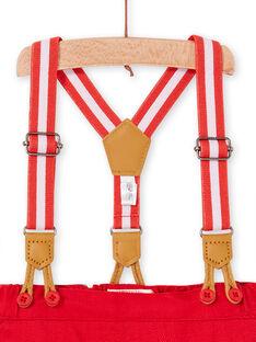 Rote Hose und Baby-Jungen-Hosenträger LUVIPAN / 21SG10U1PANF515