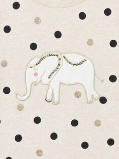 Langärmeliges Sweatshirt mit Polka-Dot-Print und Elefantenaufnäher LAPOESWEA / 21S901Y1SWE001