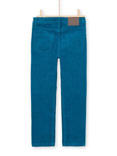 Blaue Enten-Velours-Hose für Jungen MOJOPAVEL1 / 21W90213PAN714