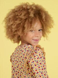 Bluse für Mädchen mit langen Ärmeln und Blumendruck MAMIXTEE1 / 21W901J3TMLB106