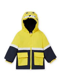 Baby Junge gelber Regenmantel mit Tigerdruck MUGROIMP / 21WG1051IMP102