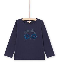 Langarm-T-Shirt für Mädchen mit Katzenmotiv MAJOYTEE1 / 21W90113TMLC205