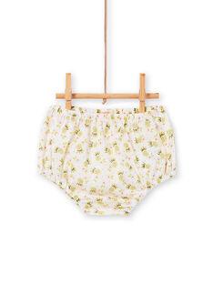 Off weiß und grün Kleid und Bloomer mit Ananas Druck Baby Mädchen LIBALROB3 / 21SG09O1ROB000
