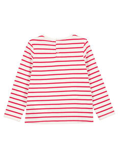 T-Shirt Langärmelig Naturweiß GANOTEE / 19W901V1TML001