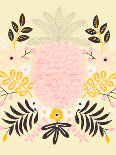 Gelbes und rosa T-shirt LAJAUTI2 / 21S901O2TMC116