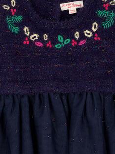 Kleid aus Material-Mix für Babys Mädchen GINOROB1 / 19WG09V1ROB070