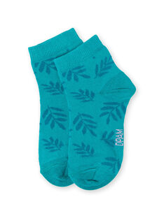Blaue und türkisfarbene Socken Kind Mädchen LYAVERSOCK / 21SI01Q1SOQC216