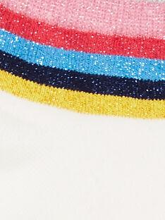Gestreifte ecrufarbene Socken aus Lurex® Kind Mädchen LYAHACHO / 21SI01X1SOQ001